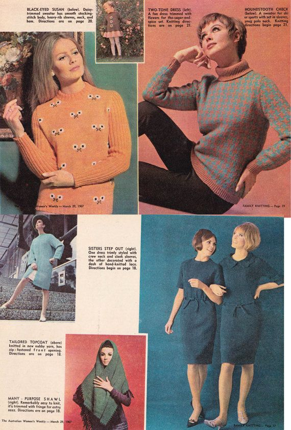 7fc6fc4fe78 HALF PRICE Clearance 60s Vintage Knitting Crochet Patterns ...