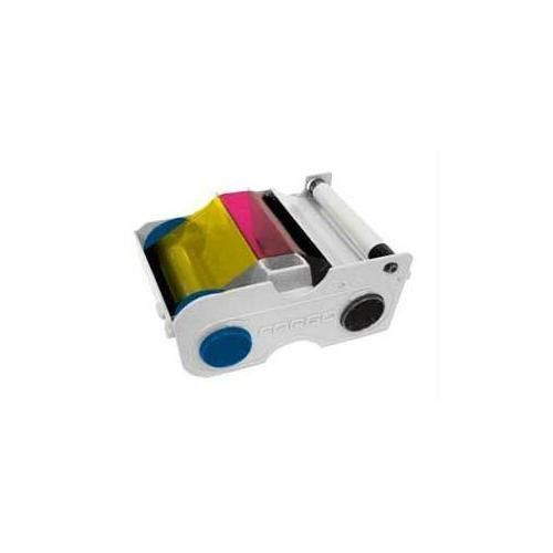 YMCKO CARTRIDGE W/CLEANING ROLLER: FULL-COLOR RIBBON WITH RESIN BLACK AND CLEAR