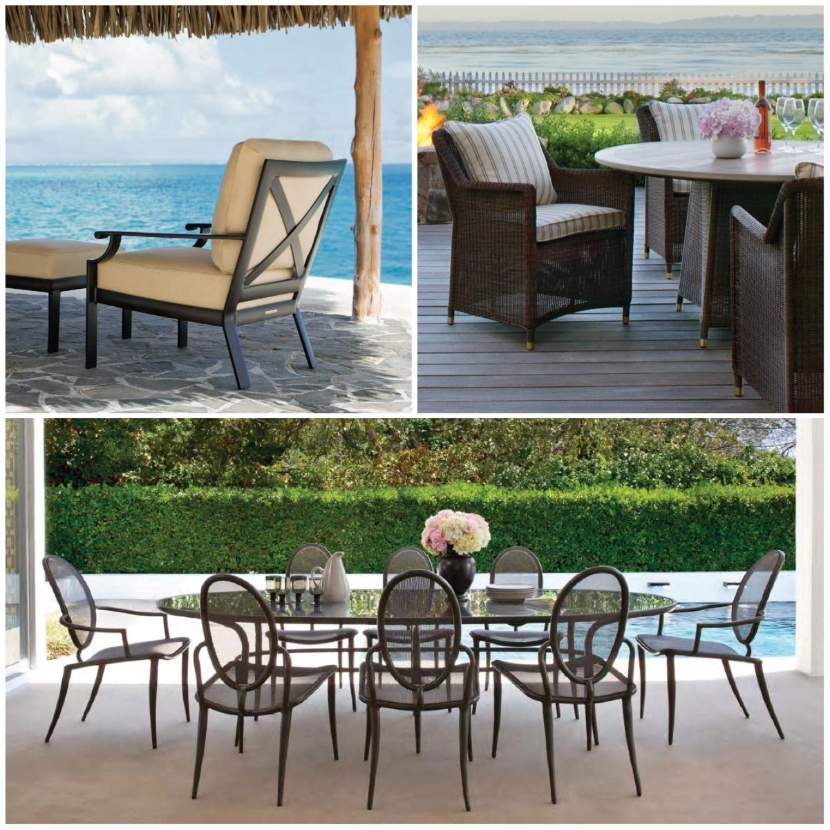Outdoor furniture collections by brown jordan 50 luxury patio furniture spaces