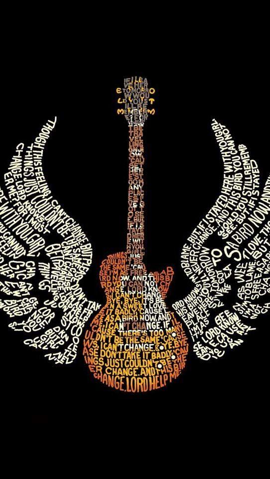 Brown Acoustic Guitar Wallpaper iPhone Brown Pinterest
