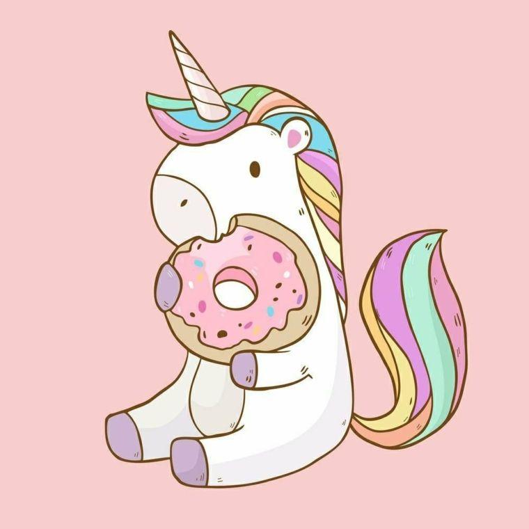 Unicorno Con Ciambella Immagini Da Disegnare Facili Unicorno Kawaii Disegni Kawaii Kawaii Disegni Facili