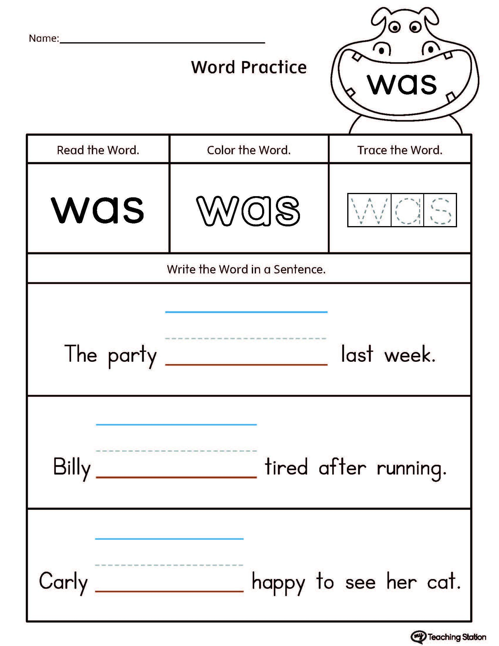 Kindergarten Sentence Writing Practice Worksheets Build