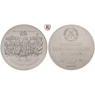 DDR, 10 Mark 1983, Wagner, st, J. 1589: 10 Mark 1983. Wagner. J. 1589; stempelfrisch 35,00€ #coins