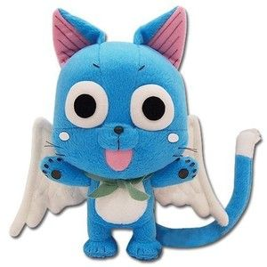 """Amazon.com: Great Eastern GE-6968 Animation Official Fairy Tail Anime Happy 8"""" Plush: Toys & Games"""
