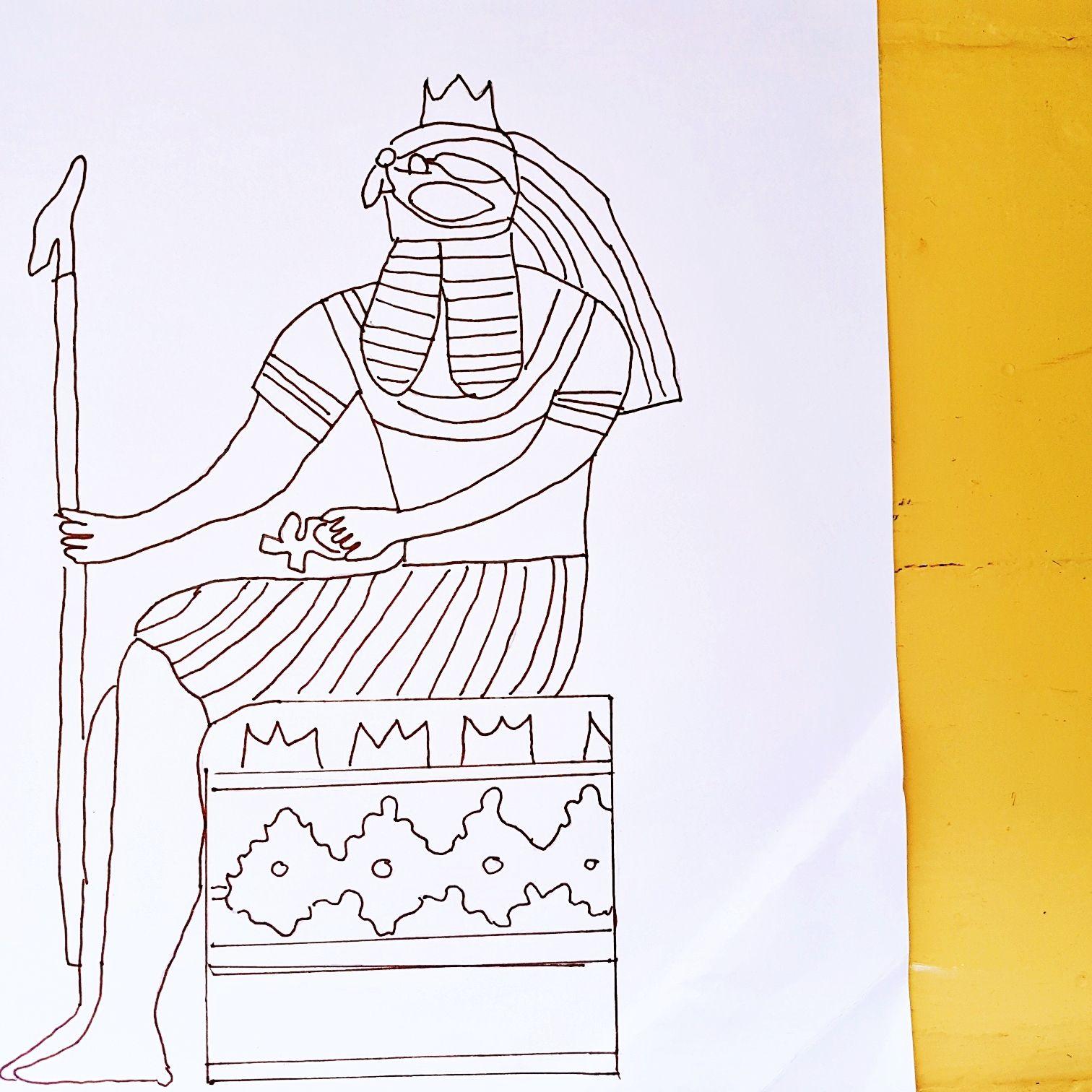Meine Zeichnung vom Gott Horus