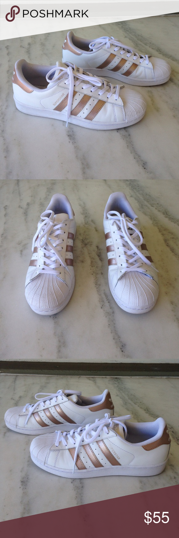 Rose D'oro Adidas Superstar Strisce Superstar, Scarpe E La