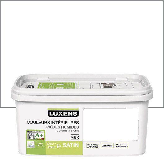 Peinture Couleurs Interieures Luxens Blanc Blanc 0 2 5l Avec Images Couleur Interieure Peinture Cuisine Parement Mural