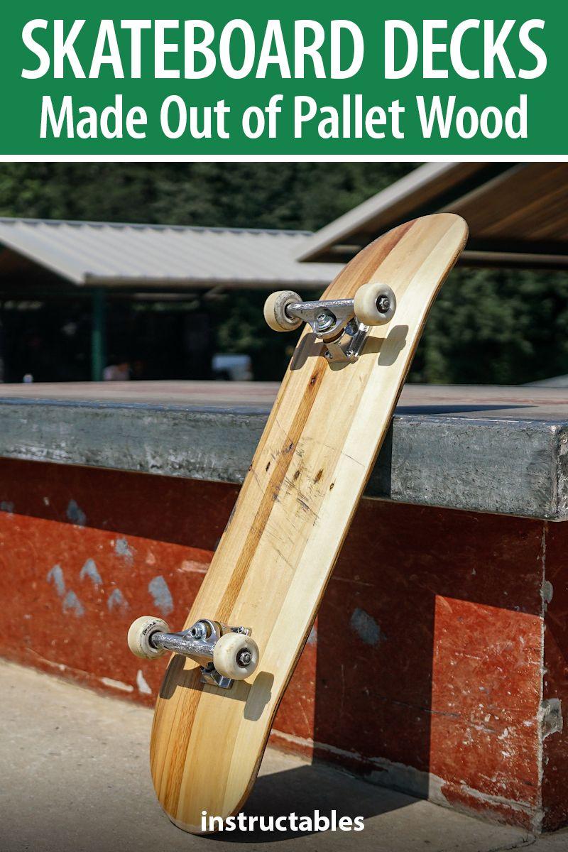 Skateboard Decks Made Out Of Pallet Wood Wood Pallets Skateboard Decks Skateboard