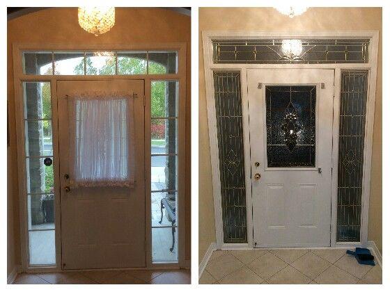 Front Door Makeover Dont Replace Your Door Remodel It This