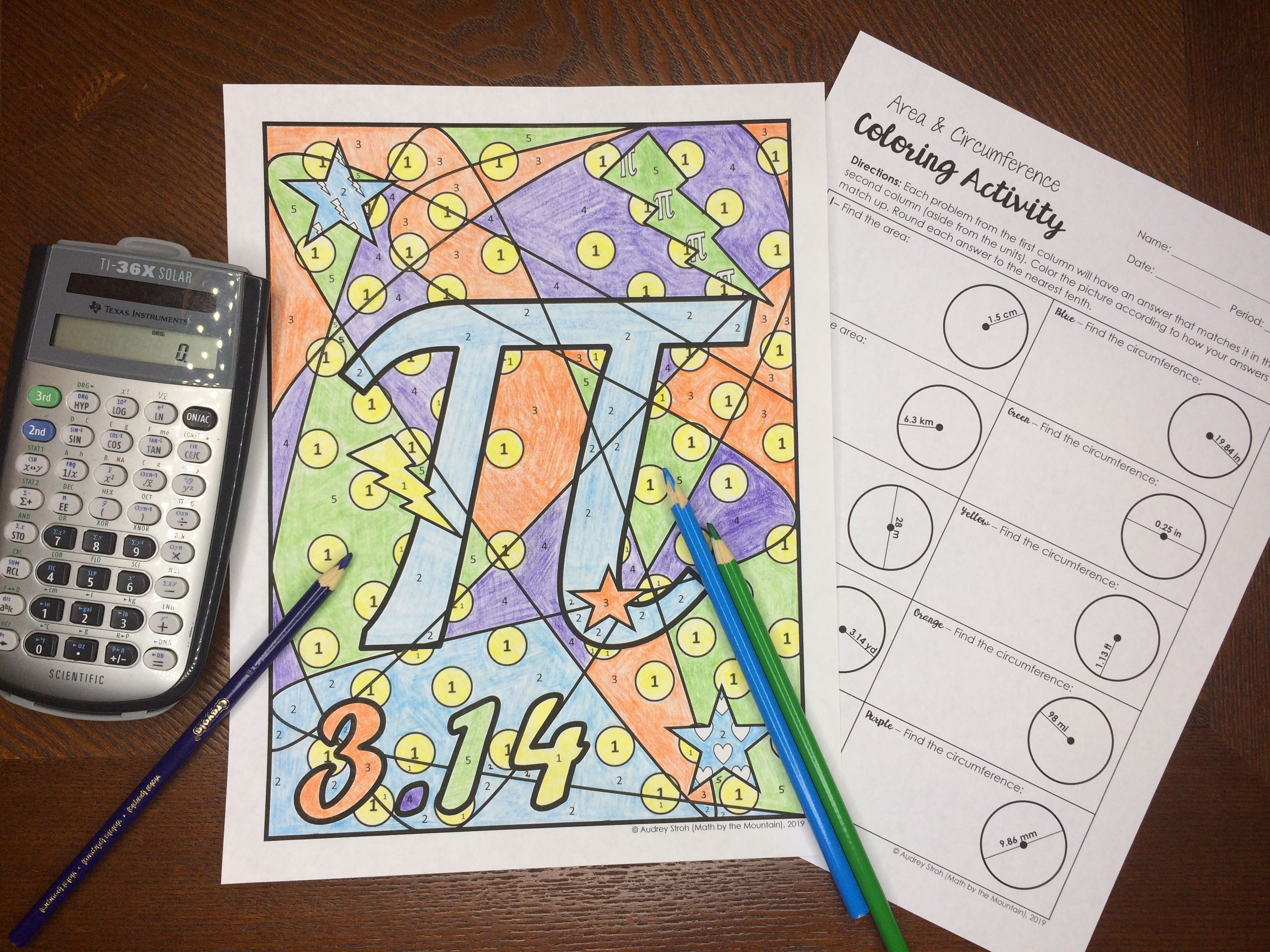 Pi Day Coloring Activity Color Activities School Coloring Pages Activities [ 2448 x 3264 Pixel ]