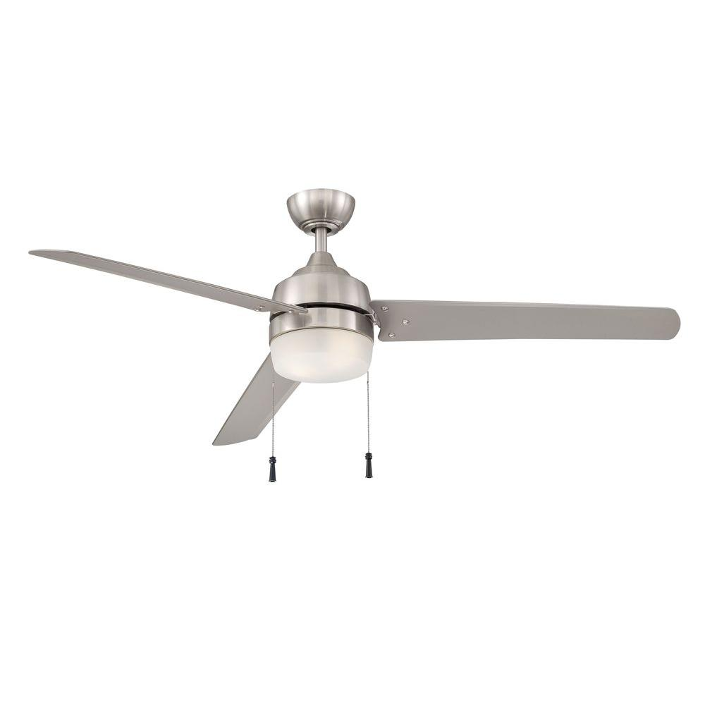 Home Decorators Collection Carrington 60 In Brushed Nickel Ceiling Fan Brushed Nickel Ceiling Fan Ceiling Fan Ceiling Fan With Light