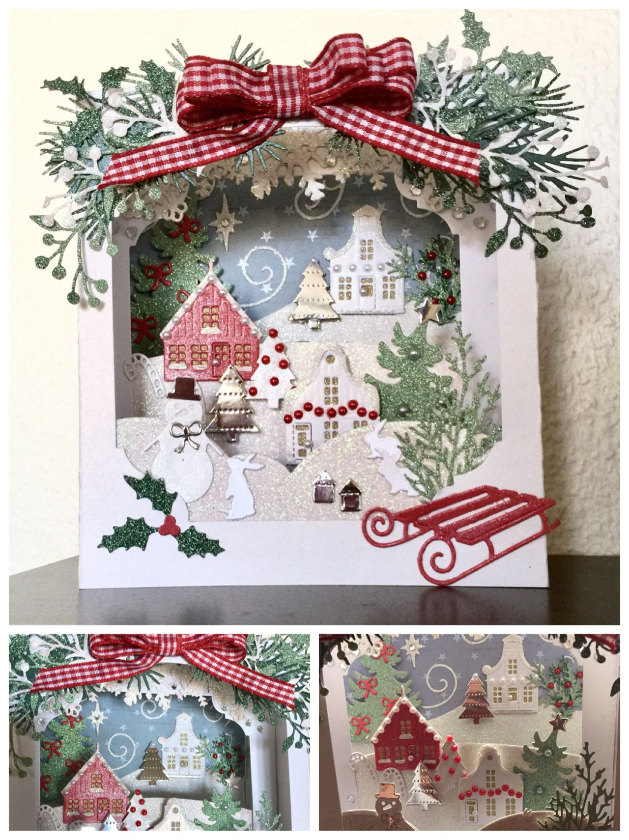Made by Sizzix and me ☺️ Christmas cards handmade