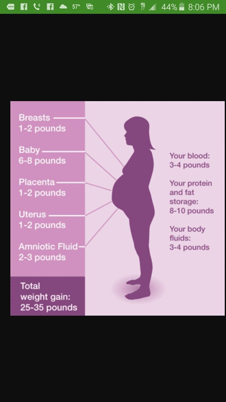 Pregnancy Weight Gain Chart Weight Gain Pinterest Weight Gain