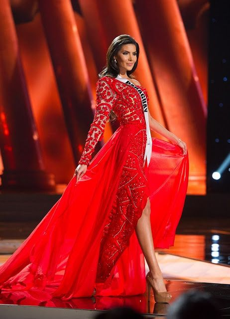 Miss Paraguay Myriam Arevalos for the Miss Universe 2015 Evening ...