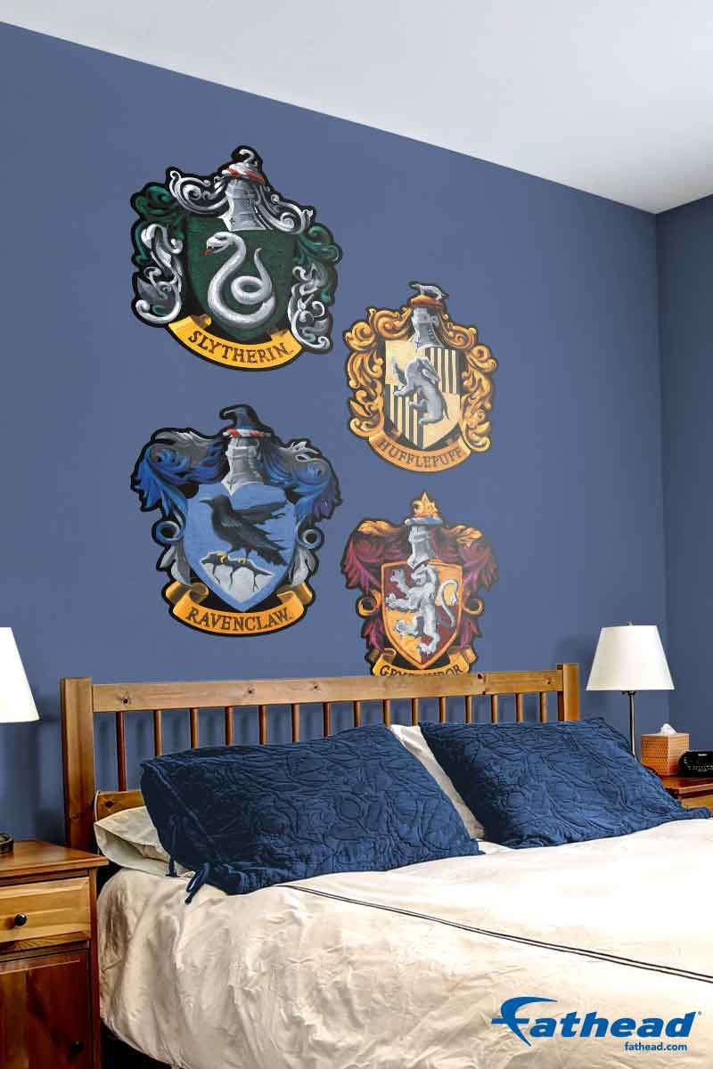 Hogwarts house sigils boy girl bedroom girl bedroom walls and fatheads removable vinyl wall decals are so much easier to put up than wallpaper because amipublicfo Gallery