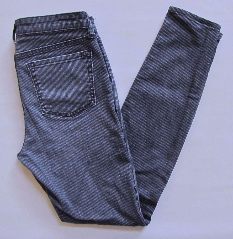 "Gap 1969 Legging Jeans 2 26 Blue Railroad Stripe Stretch skinny Denim Jeans 29"" #GAP #LeggingsSlimSkinny"