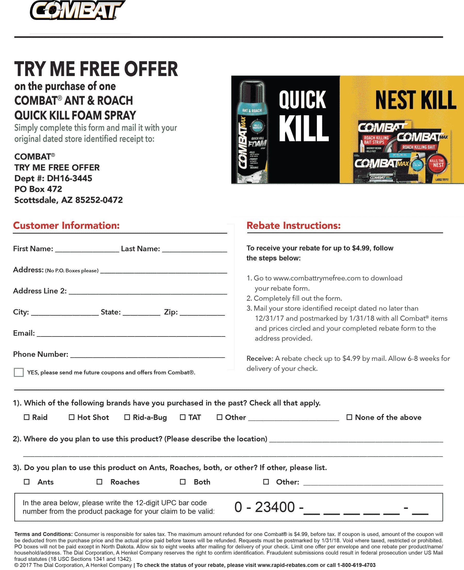 Free Ant Killer Via Rebate   Freebies    Ant