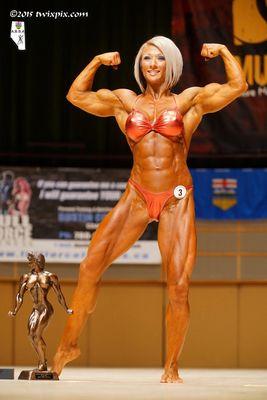 Tara Ostafichuk - 1st Place Overall - Women's Bodybuilding