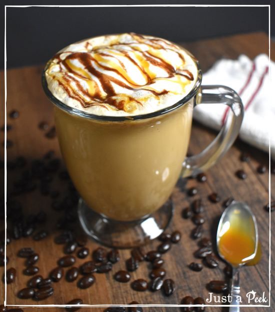 Hot or Iced Turtle Latte Recipe Coffee recipes