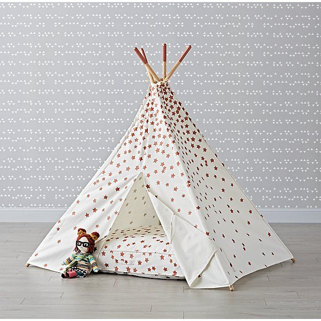 pretty nice 1ff10 22085 Rose Gold Star Teepee and Cushion Set | The Land of Nod ...