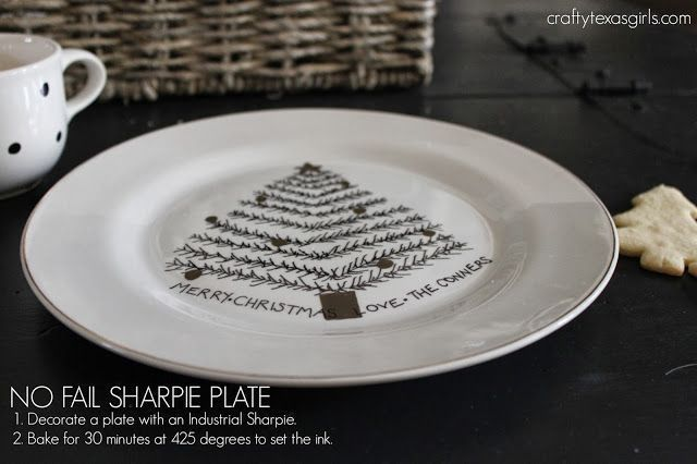 This is the trick to doing a 'sharpie' plate successfully. Only use 'oil based' sharpies-- otherwise it will wear off. #sharpieplates #christmas #crafts #sharpieplates This is the trick to doing a 'sharpie' plate successfully. Only use 'oil based' sharpies-- otherwise it will wear off. #sharpieplates #christmas #crafts #sharpieplates This is the trick to doing a 'sharpie' plate successfully. Only use 'oil based' sharpies-- otherwise it will wear off. #sharpieplates #christmas #crafts #sharpiepla #sharpieplates