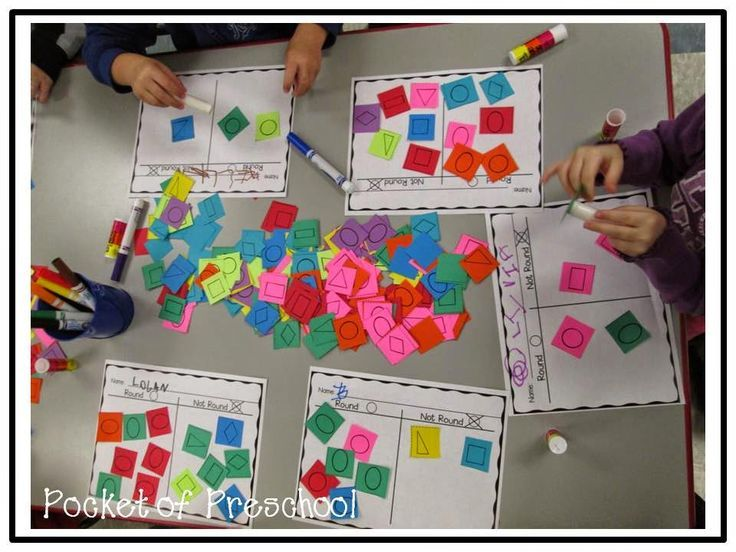 Sorting Paper Shapes Round Or Not Is A Fun Small Group Activity Pocket Of Preschool
