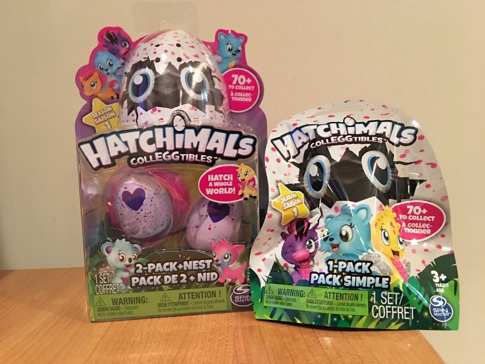 Hatchimals Colleggtibles 2 Pack Pink Nest And Blind Bag