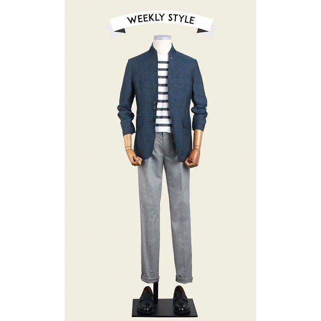 [T.I FOR MEN – WEEKLY STYLE] 아침 저녁엔 봄, 낮엔 한여름. 두 계절과 함께하기 위한 티아이포맨 위클리 스타일. :D  #티아이포맨 #tifm #summer #daily #mensfashion #linen #jacket #stripe #pants
