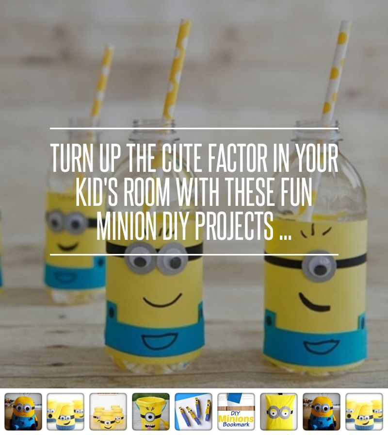 Turn up the Cute #Factor in Your Kid's Room with These Fun #Minion DIY… #Applique