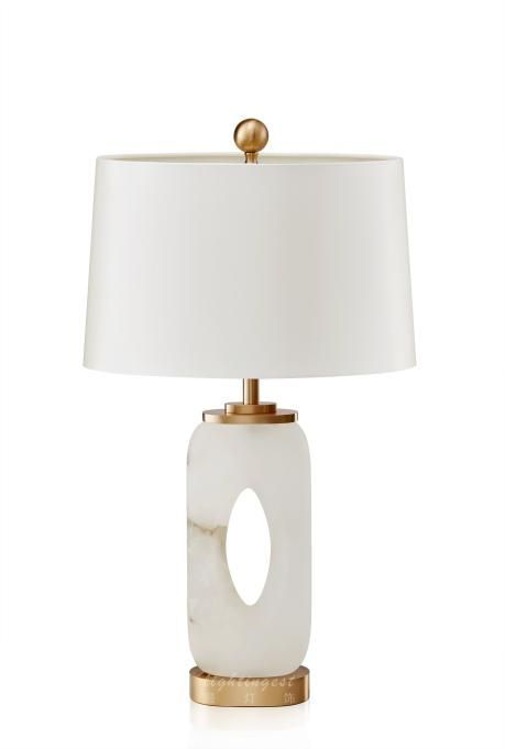Modern New Chinese Copper Jade Creative Decorative Table Lamp