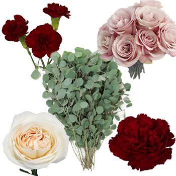Bulk Burgundy Blush Wedding Flowers Diy Pack Fiftyflowers Diy Wedding Flowers Diy Wedding Bouquet Blush Wedding Flowers