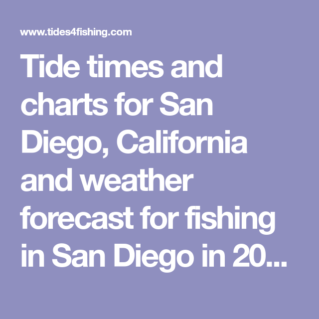Tide Times And Charts For San Diego California And Weather Forecast
