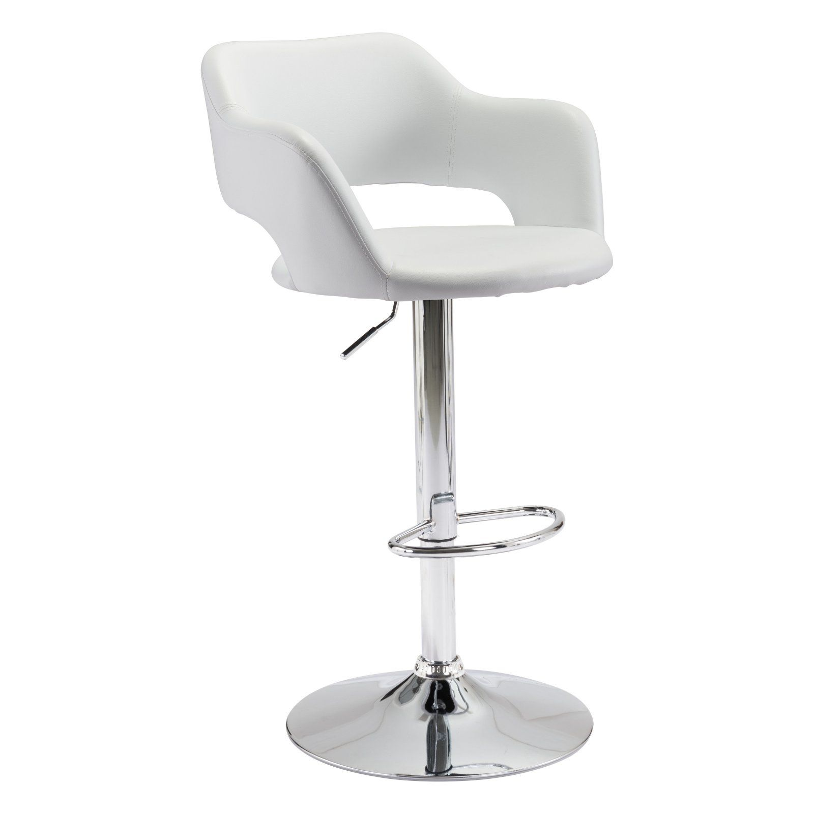 Incredible Zuo Modern Contemporary Hysteria Adjustable Bar Stool White Ibusinesslaw Wood Chair Design Ideas Ibusinesslaworg