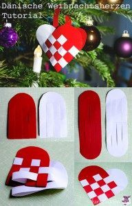 diy d nische weihnachtsherzen weben anleitungen do it yourself basteln mit kindern. Black Bedroom Furniture Sets. Home Design Ideas
