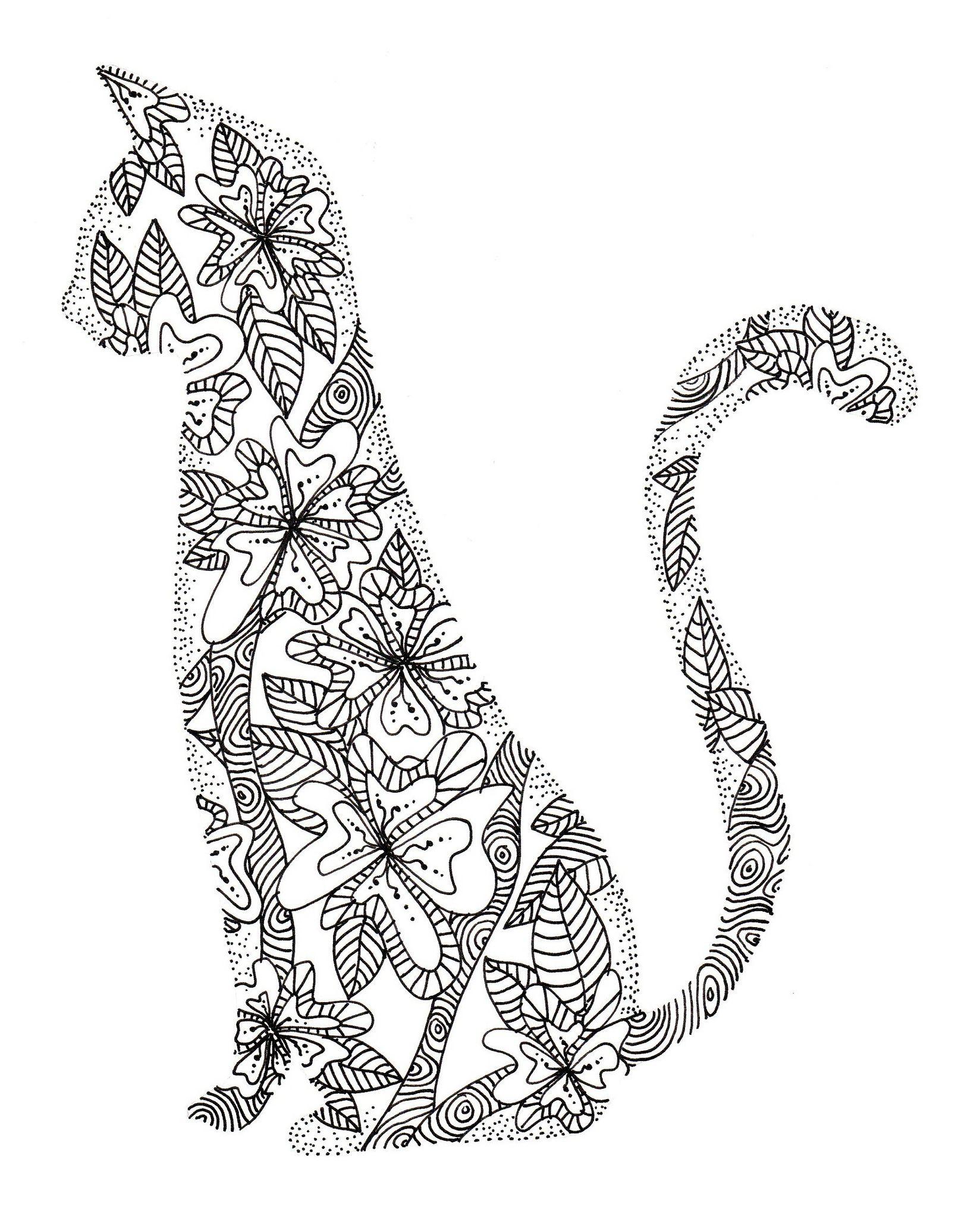Tall cat | Mandalas, Gato y Páginas para colorear
