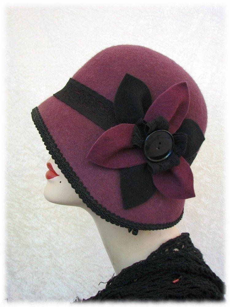 cloche hat wool 1920s flapper hat fannymae via etsy