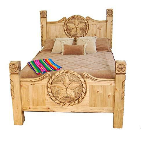 King Texas Star Rope Bed Great Western Furniture Company Rustic Bedroom Furniture Furniture Bedroom Furniture