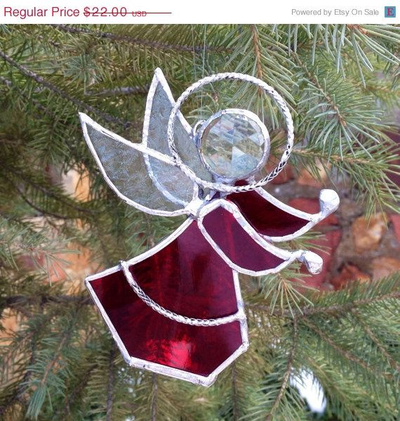ON SALE 20 OFF Stained Glass Angel by GreenhouseGlassworks gifts