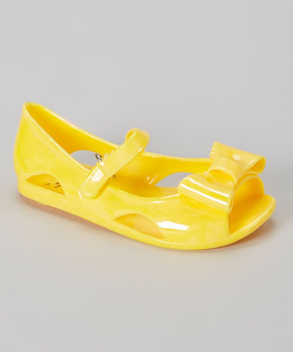 f5fa10f906dc This Neon Yellow Bow Jelly Sandal by Stepping Stones is perfect!  5.99