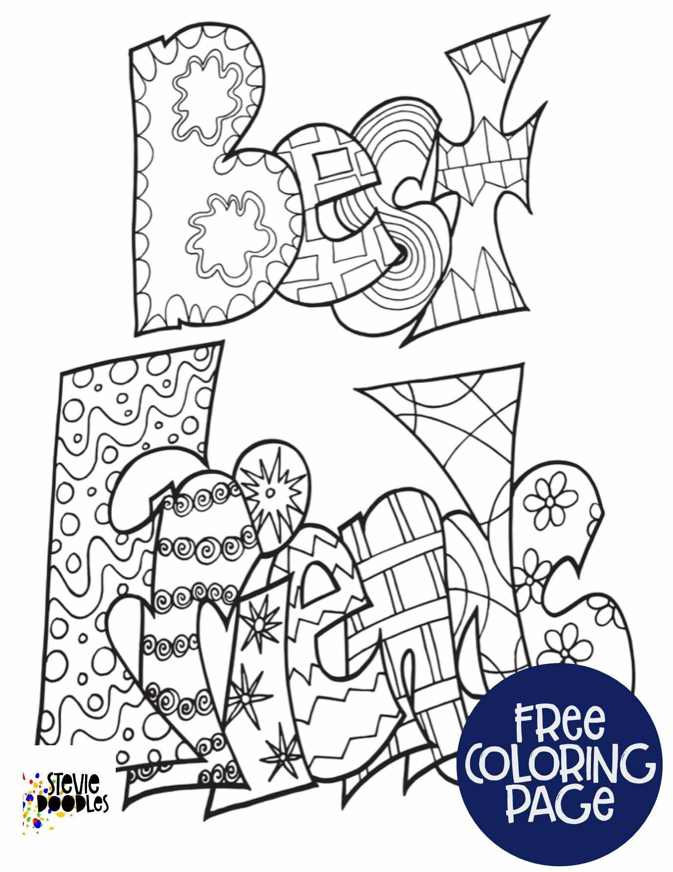 Free Printable Best Friends Coloring Page Stevie Doodles In 2020 Free Printable Coloring Sheets Free Printable Coloring Coloring Pages