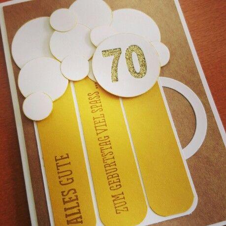 Bier Karte Fur Einen Runden Manner Geburtstag Mit Stampin Up Punch
