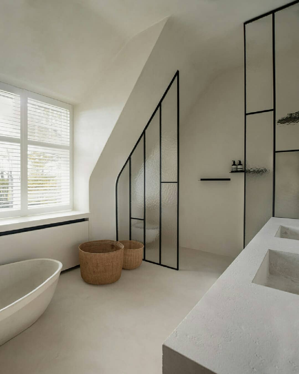 "Photo of estliving.com on Instagram: ""BATHROOM |Sint-Martens-Latem Bathroom . Belgian design office @studioloho combine their finesse for interior and product design in…"""