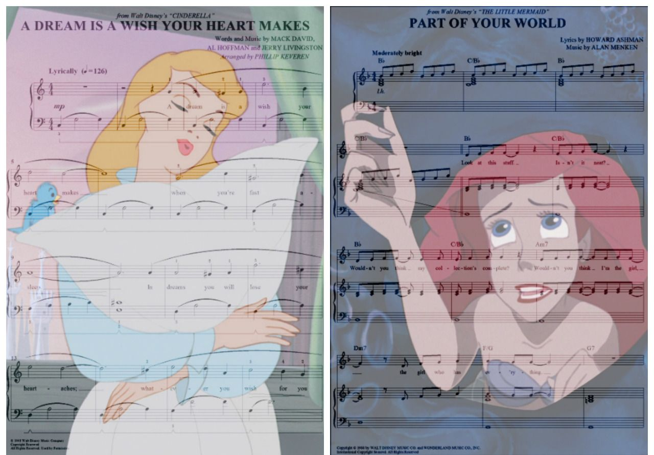 Disney Music A Dream Is A Wish Your Heart Makes From Cinderella