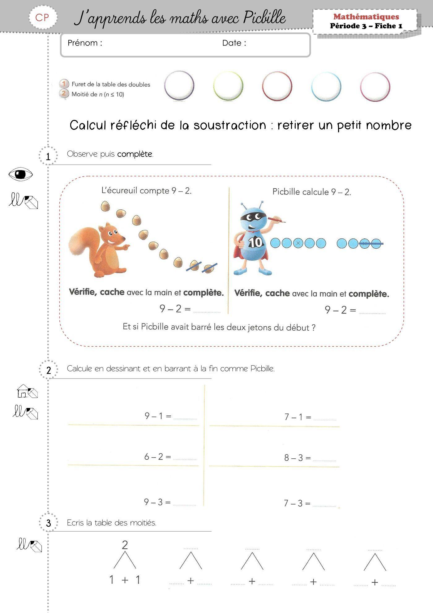 J Apprends Les Maths Avec Picbille Cp Pdf : apprends, maths, picbille, Épinglé, Ecole