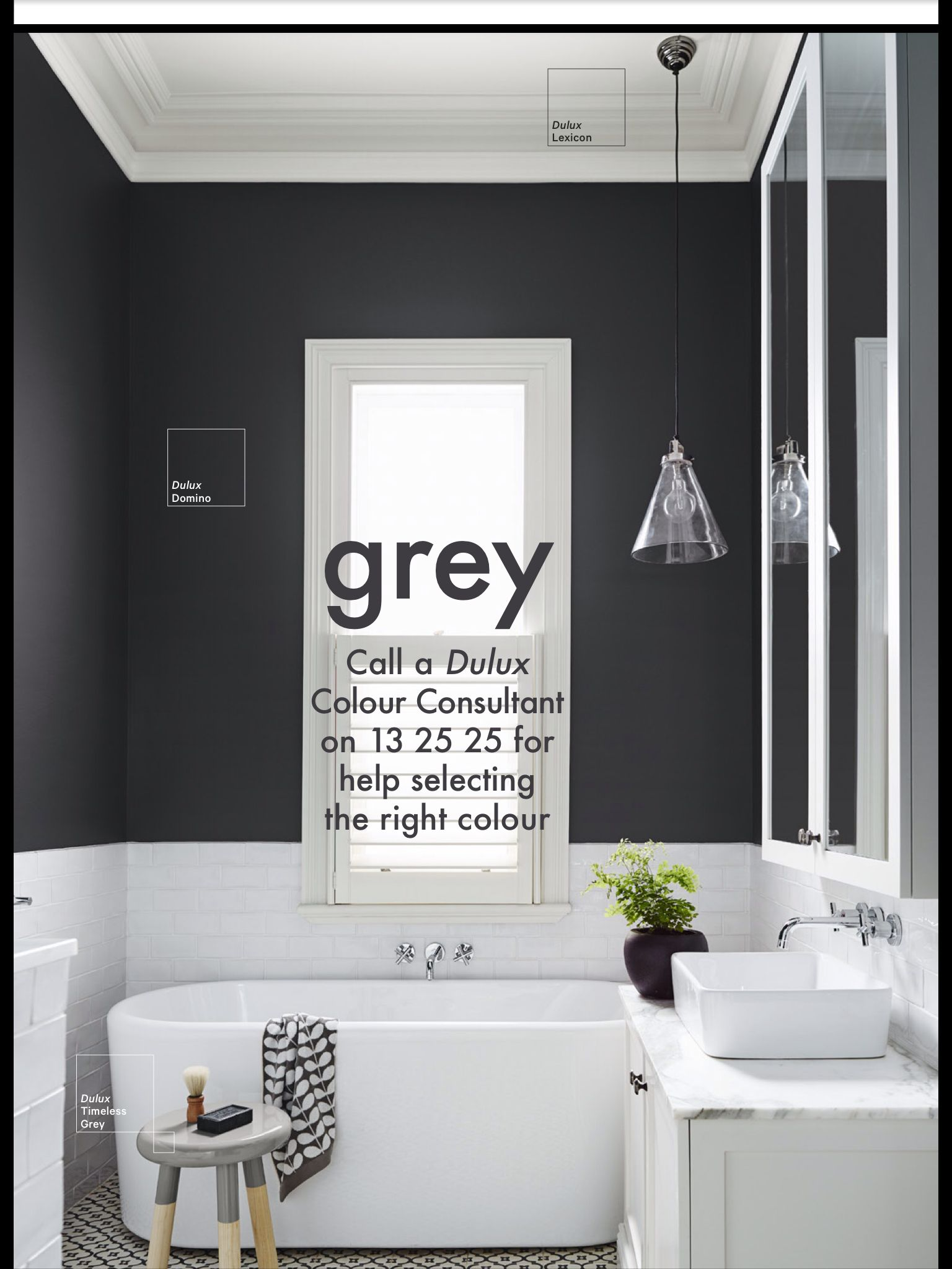 White Bathroom Paint Dulux grey paint dulux domino | bathroom | pinterest | grey, grey paint