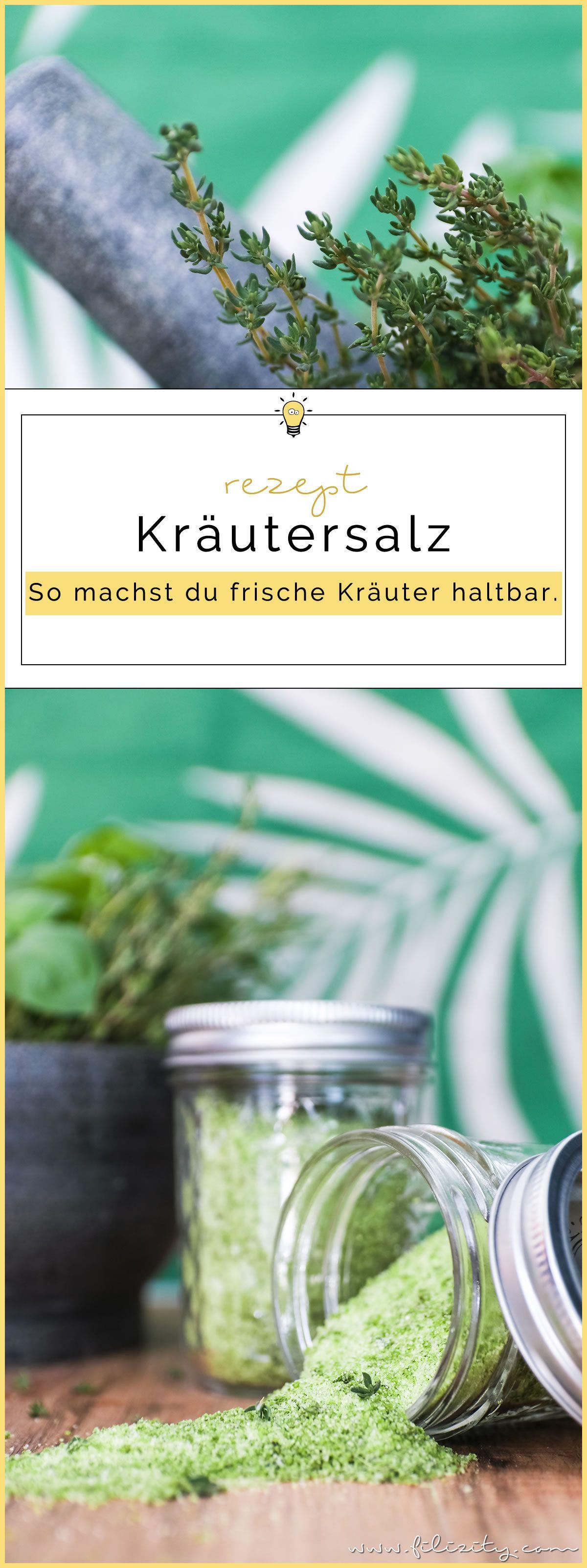 Kräutersalz herstellen – So machst du frische Kräuter haltbar | mediterranes Herbst-Rezept #kräuter #mediterran