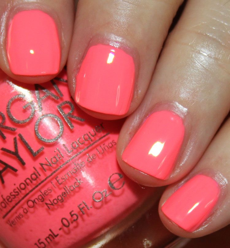Morgan Taylor Hello Pretty Summer 2015 Nail Polish Coral Nail