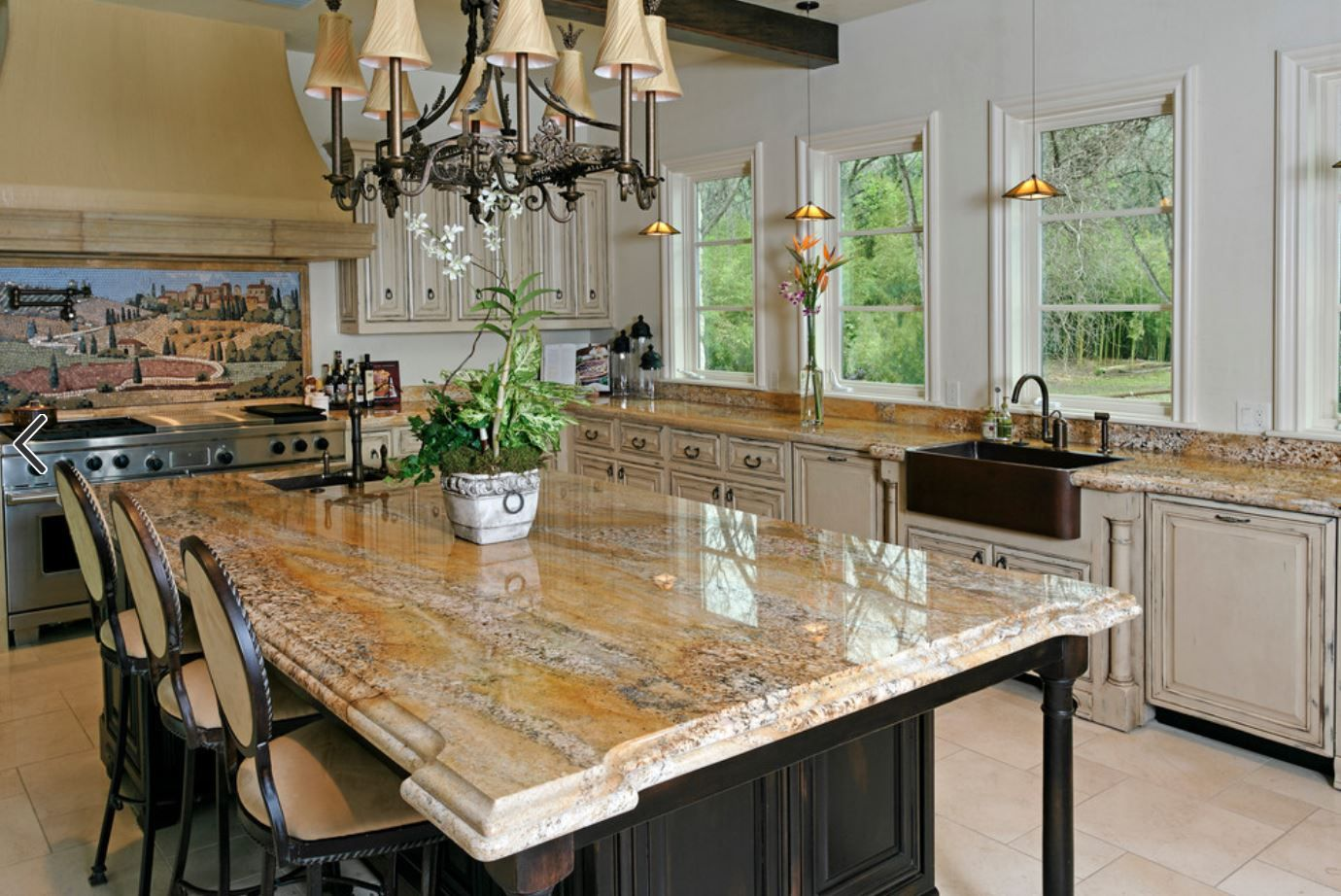 For Max Impact Try A Matching Stone Table Top In The Same Material As Your Counters You Ll Give Your K White Kitchen Decor Kitchen Renovation Kitchen Remodel