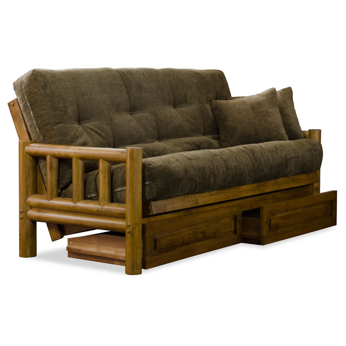 Tahoe Log Futon Set - Heritage, Designer Mattress Made in USA ...