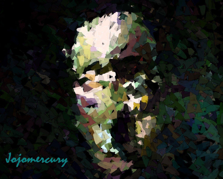 """Portrait Abstract"" by jojomercury - Caedes Desktop Wallpaper"